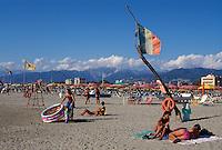 Italien, Toskana, Marina di Camaiore, Strand