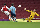 16/04/2018 Arsenal v Blackpool FAYC Semi 2L<br /> <br /> Craig Thordarson saves Xavier Amaechi's shot