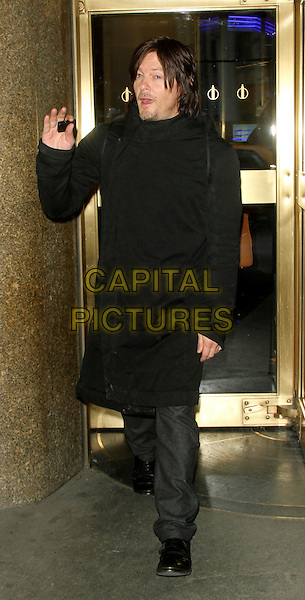 NEW YORK, NY - FEBRUARY 27: Norman Reedus at NBC's New York Live promoting the new season of Walking Dead on February 27, 2014 in New York City, NY., USA.<br /> CAP/MPI/RW<br /> &copy;RW/ MediaPunch/Capital Pictures