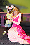 LAKE BUENA VISTA, FL - OCTOBER 01: Young actress / model Jayden poses with Princess Aurora while visiting the Cinderella's Castle in the Magic Kingdom during Walt Disney World Resort's 40th Anniversary Celebration at Walt Disney World Resort on October 01, 2011 in Lake Buena Vista, Florida. Walt Disney World opened on October 01, 1971. (Photo by Johnny Louis/jlnphotography.com)