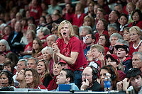 STANFORD CA-DECEMBER 30, 2010: Fan during the Stanford 71-59 victory over UCONN at Maples Pavilion.