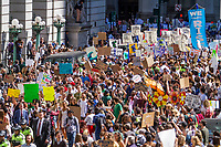 NEW YORK, NY - SEPTEMBER 20: People took to the streets to march to demand action on the global climate crisis on September 20, 2019 in New York City. It could be the biggest climate protest in history inspired by Swedish teenage activist Greta Thunberg (Photo by Pablo Monsalve / VIEWpress )