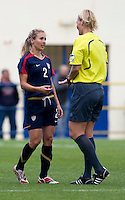 Heather Mitts, Bibiana Steinhaus.  The USWNT defeated Iceland, 1-0, at Ferreiras, Portugal.