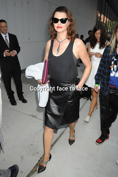 NEW YORK, NY - SEPTEMBER 11: Linda Evangelista seen outside of the Proenza Schouler Spring 2014 Fashion Show in Midtown Manhattan during New York Fashion Week in New York, NY. September 11, 2013. <br /> Credit: MediaPunch/face to face<br /> - Germany, Austria, Switzerland, Eastern Europe, Australia, UK, USA, Taiwan, Singapore, China, Malaysia, Thailand, Sweden, Estonia, Latvia and Lithuania rights only -