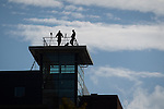 © Joel Goodman - 07973 332324 . No syndication permitted . 29/09/2013 . Manchester , UK . Armed police spotters on a high vantage above Manchester Central . The Conservative Party Conference at Manchester Central . Photo credit : Joel Goodman