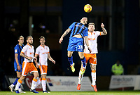 Gillingham's Mark Byrne and Blackpool's Oliver Turton<br /> <br /> Photographer Rachel Holborn/CameraSport<br /> <br /> The EFL Sky Bet League One - Gillingham v Blackpool - Tuesday 6th November 2018 - Priestfield Stadium - Gillingham<br /> <br /> World Copyright &copy; 2018 CameraSport. All rights reserved. 43 Linden Ave. Countesthorpe. Leicester. England. LE8 5PG - Tel: +44 (0) 116 277 4147 - admin@camerasport.com - www.camerasport.com