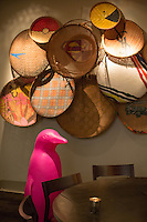 The Fuchsia Penguin by the Cracking Art Group can join your dinner party at The Counting House Bar in the 21c Hotel in Durham, N.C. on Sunday, March 8, 2015. (Justin Cook)