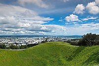 Situated five kilometres south of the city center, Mount Eden (Maungawhau, the 'Mountain of the Whau tree' in Māori) is the name of a dormant volcano whose summit is the highest point on the Auckland isthmus. It is believed that the volcano erupted from two craters 28,000 years ago. The current crater is 50 meters deep