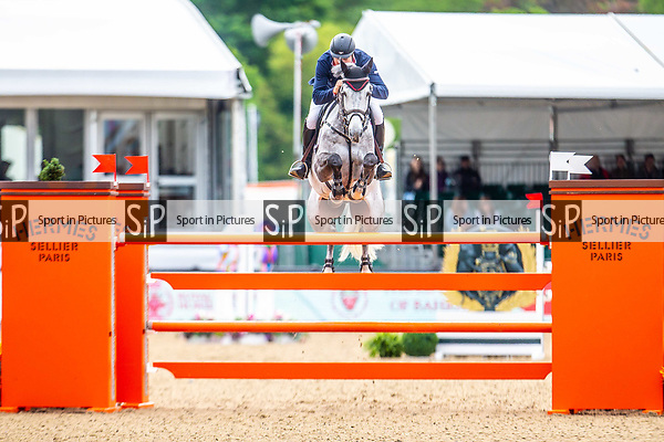 Day 5. Royal Windsor Horse Show. Windsor. Berkshire. UK.  Showjumping. Palm Speed Stakes. CSI5*. Robert Smith riding  Cimano E. GBR. Winner. 13/05/2018. ~ MANDATORY Credit Elli Birch/Sportinpictures - NO UNAUTHORISED USE - 07837 394578