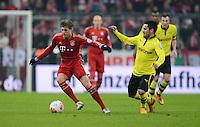 FUSSBALL  DFB-POKAL  VIERTELFINALE  SAISON 2012/2013    FC Bayern Muenchen - Borussia Dortmund          27.02.2013 Toni Kroos (li, FC Bayern Muenchen) gegen Ilkay Guendogan (re, Borussia Dortmund)