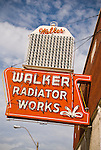 Neon sign for Walker Radiator Works, Memphis, Tenn.