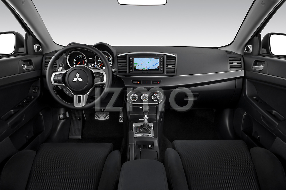 Dashboard view of a 2010 Mitsubishi Lancer Sportback GTS