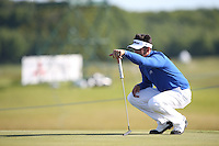 Lee Slattery (ENG) scrambles a 73 during Round Two of the 2015 Nordea Masters at the PGA Sweden National, Bara, Malmo, Sweden. 05/06/2015. Picture David Lloyd | www.golffile.ie