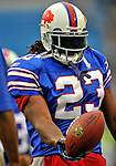 21 September 2008:  Buffalo Bills' running back Marshawn Lynch warms up prior to a game against the Oakland Raiders at Ralph Wilson Stadium in Orchard Park, NY. The Bills defeated the Raiders 24-23 to mark their first 3-0 start of the season since 1992...Mandatory Photo Credit: Ed Wolfstein Photo