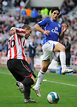 Sunderland's Phil Bardsley and Everton's Mikel Arteta. during the Premier League match at the Stadium of Light, Sunderland. Picture date 9th March 2008. Picture credit should read: Richard Lee/Sportimage
