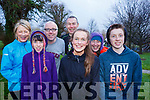Attending the Tralee Parkrun's 3rd birthday run in the Tralee town park on Saturday morning last, l-r, Mary Donnelly, Kelly Ann Nix (Knocknagoshel), Colm Nix, Anthony Donnelly, Clodagh Donnelly, Sheila Nix and Micheal Nix.