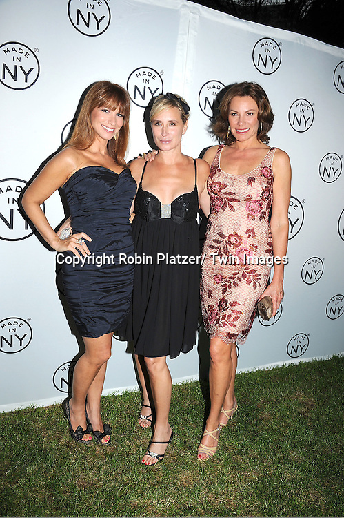 """Jill Zarin, Sonja Morgan and Countess LuAnn de Lessups attending The """"Made in NY"""" Awards at Gracie Mansion.on June 6, 2011. Matt Damon, John Leguizammo and Lauren Zalaznick and Sidney Lumet were the honorees."""