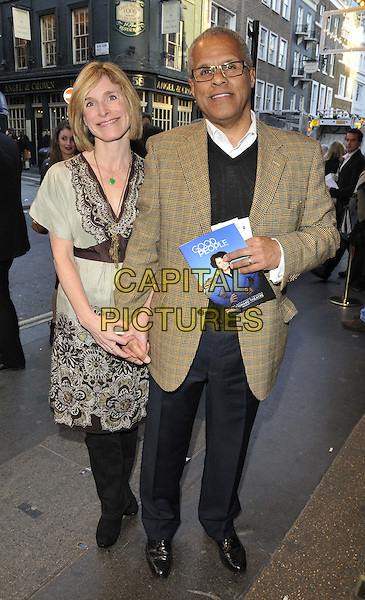 LONDON, ENGLAND - APRIL 15: Sarah Hill/Hillier &amp; Gary Wilmot attend the &quot;Good People&quot; press night performance, Noel Coward Theatre, St. Martin's Lane, on Tuesday April 15, 2014 in London, England, UK.<br /> CAP/CAN<br /> &copy;Can Nguyen/Capital Pictures