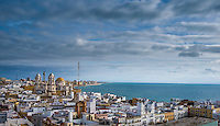 Fine Art Landscape Photograph of the beautiful port city of Cadiz Spain.<br />