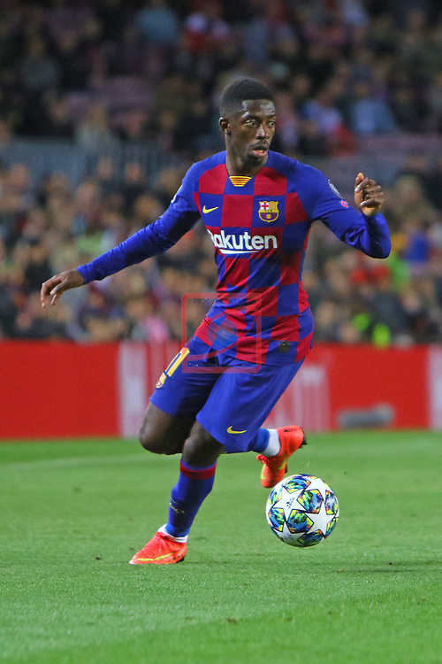 UEFA Champions League 2019/2020.<br /> Matchday 4.<br /> FC Barcelona vs SK Slavia Praha: 0-0.<br /> Ousmane Dembele.