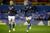 4th December 2017, St. Andrews Stadium, Birmingham, England; EFL Championship football, Birmingham City versus Wolverhampton Wanderers; Michael Morrison of Birmingham City and Cheick Ndoye of Birmingham City warms-up prior to the match