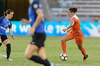 Houston, TX - Sunday August 13, 2017:  Carli Lloyd during a regular season National Women's Soccer League (NWSL) match between the Houston Dash and FC Kansas City at BBVA Compass Stadium.