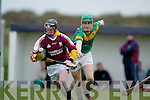 CREDIT UNION COUNTY SENIOR HURLING DIVISION 1 EYE ON THE BALL: Cormac Flynn (Causeway) gets away from the challenge of Kilmoyleys Sean Maunsell.in their senior hurling clash
