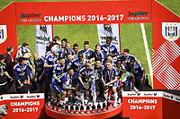 BRUSSELS, BELGIUM - MAY 21 :   Sofiane Hanni midfielder of RSC Anderlecht and teammates celebrates <br /> Anderlecht Campione del Belgio <br /> Jupiter League 20162017 <br /> Foto PhotoNews/Panoramic/Insidefoto<br /> ITALY ONLY