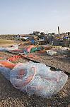 Fishing nets at Southwold quay, Suffolk, England