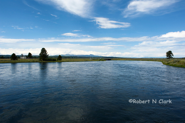Henry's Fork of the Snake River at the Osborn Bridge near Harriman State Park, Idaho