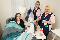 Competition winner Helen Wayte is pictured with Morag Urquart (centre) and Lisa Moore of Molly Maid