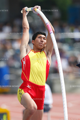 Masaki Ejima, <br /> MAY 8, 2016 - Athletics : IAAF World Challenge Seiko Golden Grand Prix in Kawasaki <br /> Men's Pole Vault <br /> at Todoroki Stadium, Kanagawa, Japan. <br /> (Photo by Sho Tamura/AFLO SPORT)