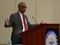 Baltimore, MD - July 24, 2017: U.S. Rep. Bobby Scott speaks at the Federal Policy Legislative Workshop during the 108th Convention of the NAACP in Baltimore, MD, July 24, 2017  (Photo by Don Baxter/Media Images International)