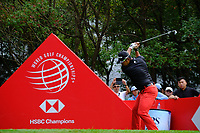 Adam Scott (AUS) on the 3rd tee  during the 1st round at the WGC HSBC Champions 2018, Sheshan Golf CLub, Shanghai, China. 25/10/2018.<br /> Picture Phil Inglis / Golffile.ie<br /> <br /> All photo usage must carry mandatory copyright credit (&copy; Golffile | Phil Inglis)