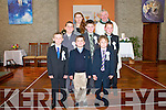 Pupils from Ballincrossig Central  NS, Ballyduff who received communion at Ballyduff Church on Saturday last. Front :Sean O'Connor, Pablo Lopez-Phelan & Ben Murphy. Centre ; Jayson Buckley, Andrew Murphy & Darragh Slattery. Back : Teacher Evelyn O'Connell & Fr. Brendan Walsh.