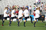 07 December 2007: Notre Dame players warm up before the game. The Florida State Seminoles defeated the University of Notre Dame Fighting Irish played 3-2 at the Aggie Soccer Stadium in College Station, Texas in a NCAA Division I Womens College Cup semifinal game.