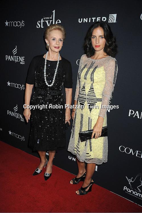 Carolina Herrera and daughter Carolina Herrera de Baez attends the Vanidades Magazine  Icons of Style Gala on September 27, 2012 at the Mandarin Oriental Hotel in New York City.