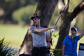 9th February 2018, Lake Karrinyup Country Club, Karrinyup, Australia; ISPS HANDA World Super 6 Perth golf, second round; Danny Willett (ENG) watches the ball flight
