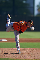 San Francisco Giants pitcher Logan Webb (73) during an instructional league game against the Kansas City Royals on October 23, 2015 at the Papago Baseball Facility in Phoenix, Arizona.  (Mike Janes/Four Seam Images)