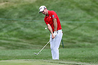 Bethesda, MD - July 1, 2017: Nick Taylor chips the ball during Round 3 of professional play at the Quicken Loans National Tournament at TPC Potomac in Bethesda, MD, July 1, 2017.  (Photo by Elliott Brown/Media Images International)