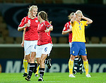Solveig Guldbrandsen, Camilla Huse, QF, Sweden-Norway, Women's EURO 2009 in Finland, 09042009, Helsinki Football Stadium.