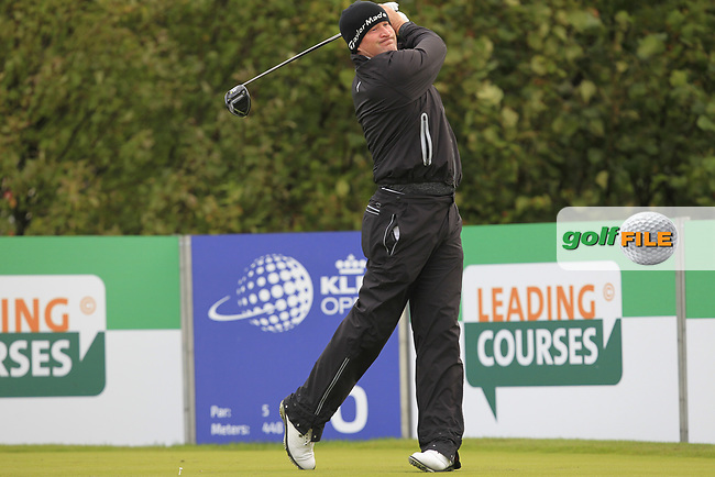 Jamie Donaldson (WAL) on the 6th tee during Round 1 of the KLM Open 2017 at the Dutch in the Netherlands. 14/09/2017<br /> Picture: Golffile | Thos Caffrey<br /> <br /> <br /> All photo usage must carry mandatory copyright credit     (&copy; Golffile | Thos Caffrey)