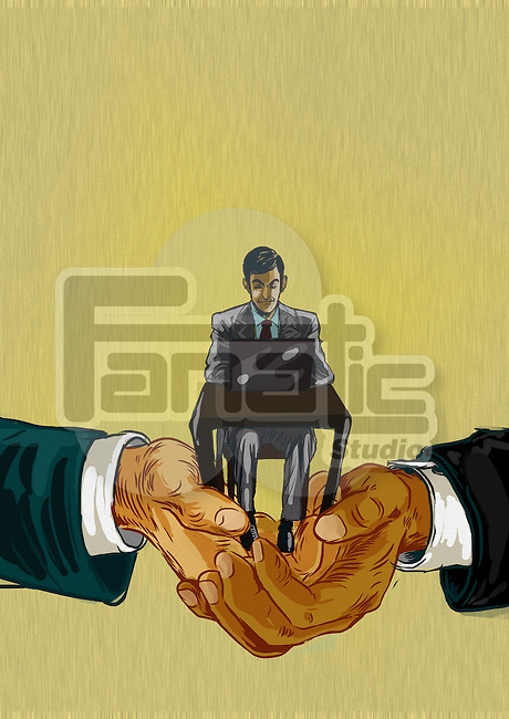 Illustrative representation of the merger of two companies