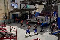 HAVANA, CUBA - JUNE 16: Cubans boxers train at a boxing gymnasium in Old Havana, (Habana Vieja) on 16th June, 2015 in Havana, Cuba. <br /> Daniel Berehulak for Panasonic/Lumix
