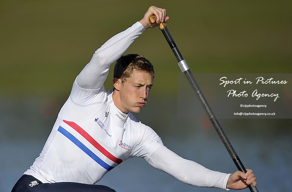 Chris Calvert. Mens C1 200m Final. Day 2. British Canoeing Sprint Olympic trials. National Water Sports Centre. Holme Pierrepont. Nottingham. UK. 18/04/2016. ~ MANDATORY Credit Garry Bowden/Sportinpictures - NO UNAUTHORISED USE - 07837 394578