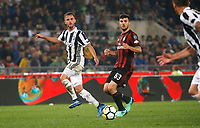 Miralem Pjanic of Juventus  and Patrick Cutrone  during the  Coppa Italia ( Tim Cup) final soccer match,  Ac Milan  - Juventus Fc       at  the Stadio Olimpico in Rome  Italy , 09 May 2018