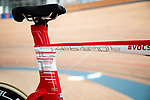 "Ridley Bike's Arena TT dubbed ""The Flying Moustache"" the name given to European Time Trial Champion Victor Campenaerts (BEL) bike to set the new UCI Hour Record holder after covering 55,089 km, beating Bradley Wiggins record by 563 metres. Aguascalientes, Mexico. 16th April 2019.<br /> Picture: Ridley Bikes 