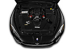 Car Stock 2018 Maserati Gran-Turismo Sport 2 Door Convertible Engine  high angle detail view