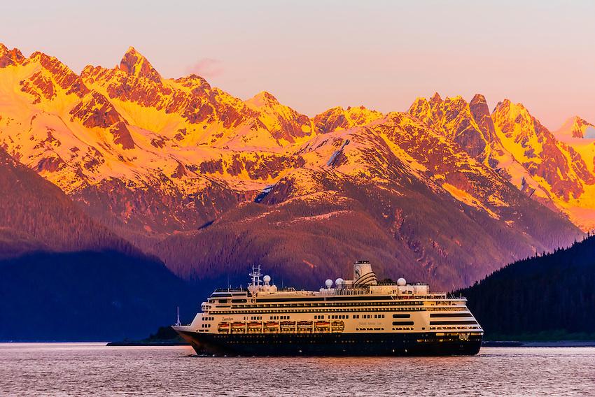 Holland America Line Cruise Ship MS Zaandam Sailing Out Of Haines - Zaandam ship