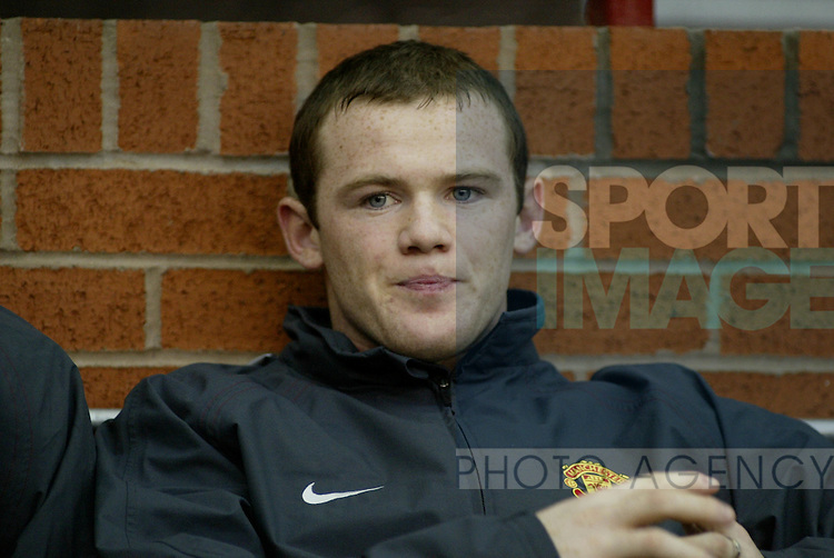 Manchester United  and Manchester City in the premiership match at Old Trafford, Manchester, November 7, 2004.Wayne Rooney.Pic © Simon Bellis/SB Sports Photography, 33 Parkway New Mills, High Peak, SK22 4DU..Any problems call 07980659747 or 01663 746519. .email: simon@simonbellis.com